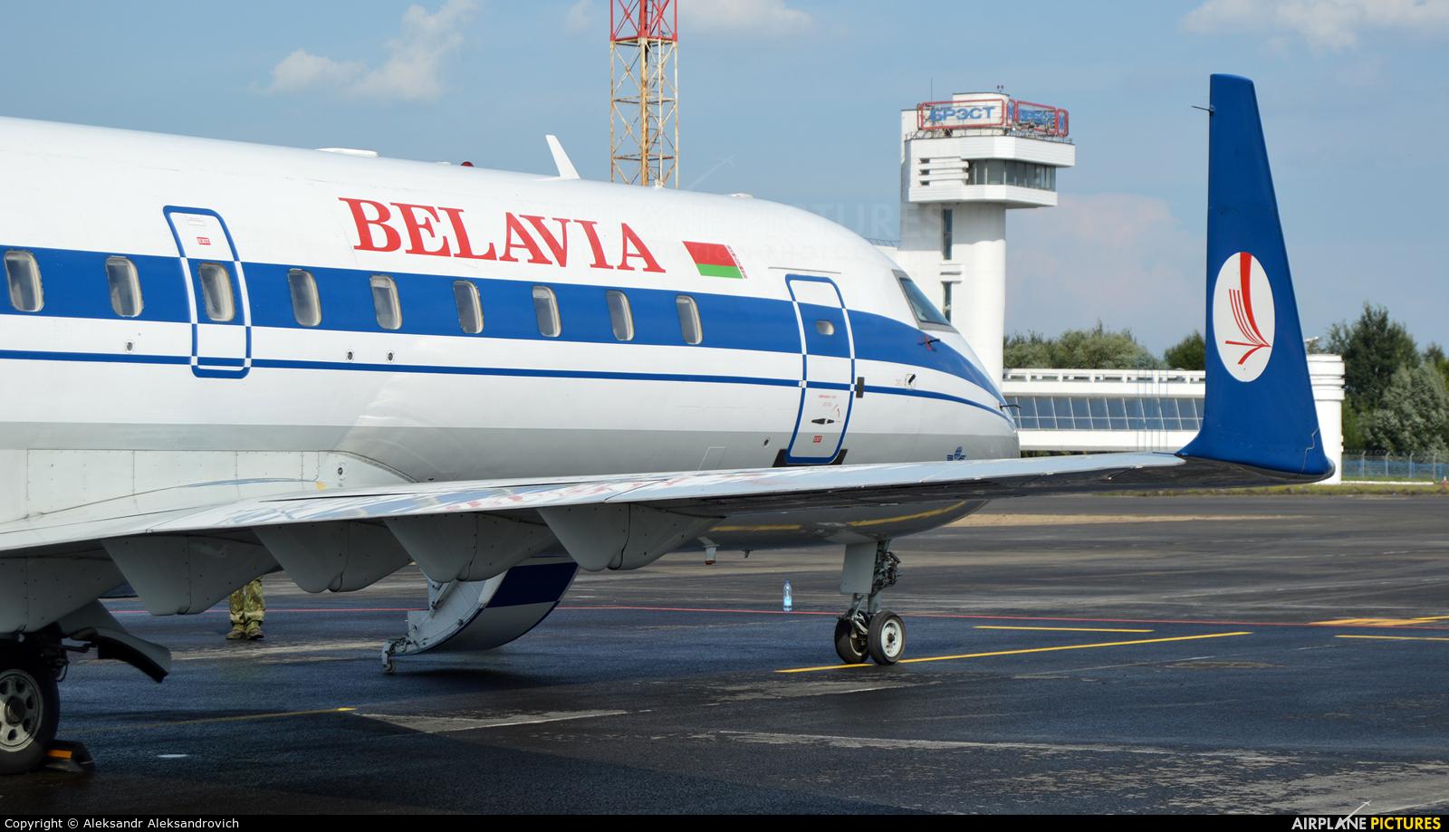 Belavia EW-100PJ aircraft at Brest Airport