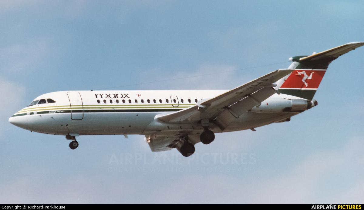 Manx Airlines G-WLAD aircraft at London - Heathrow