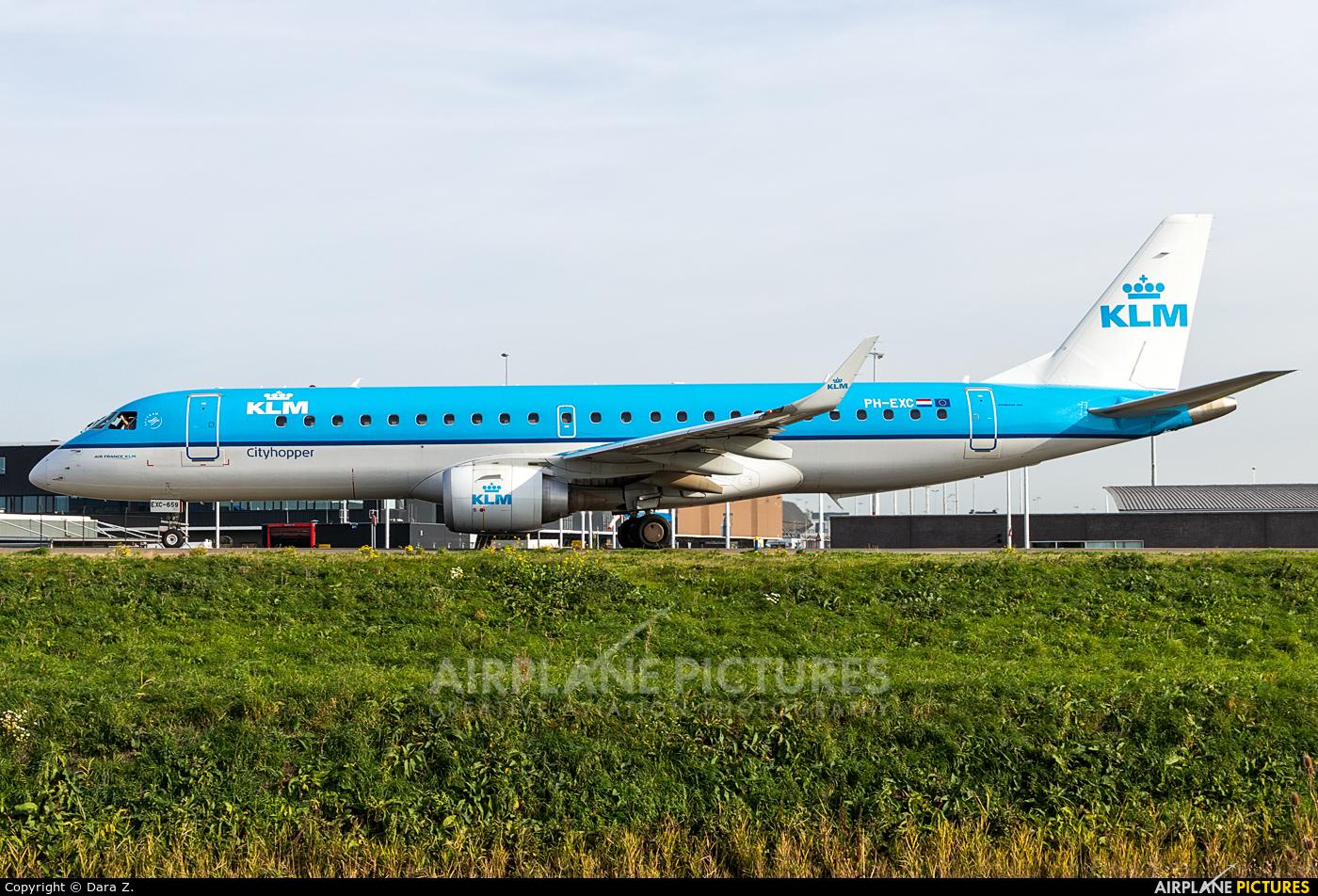 KLM Cityhopper PH-EXC aircraft at Amsterdam - Schiphol