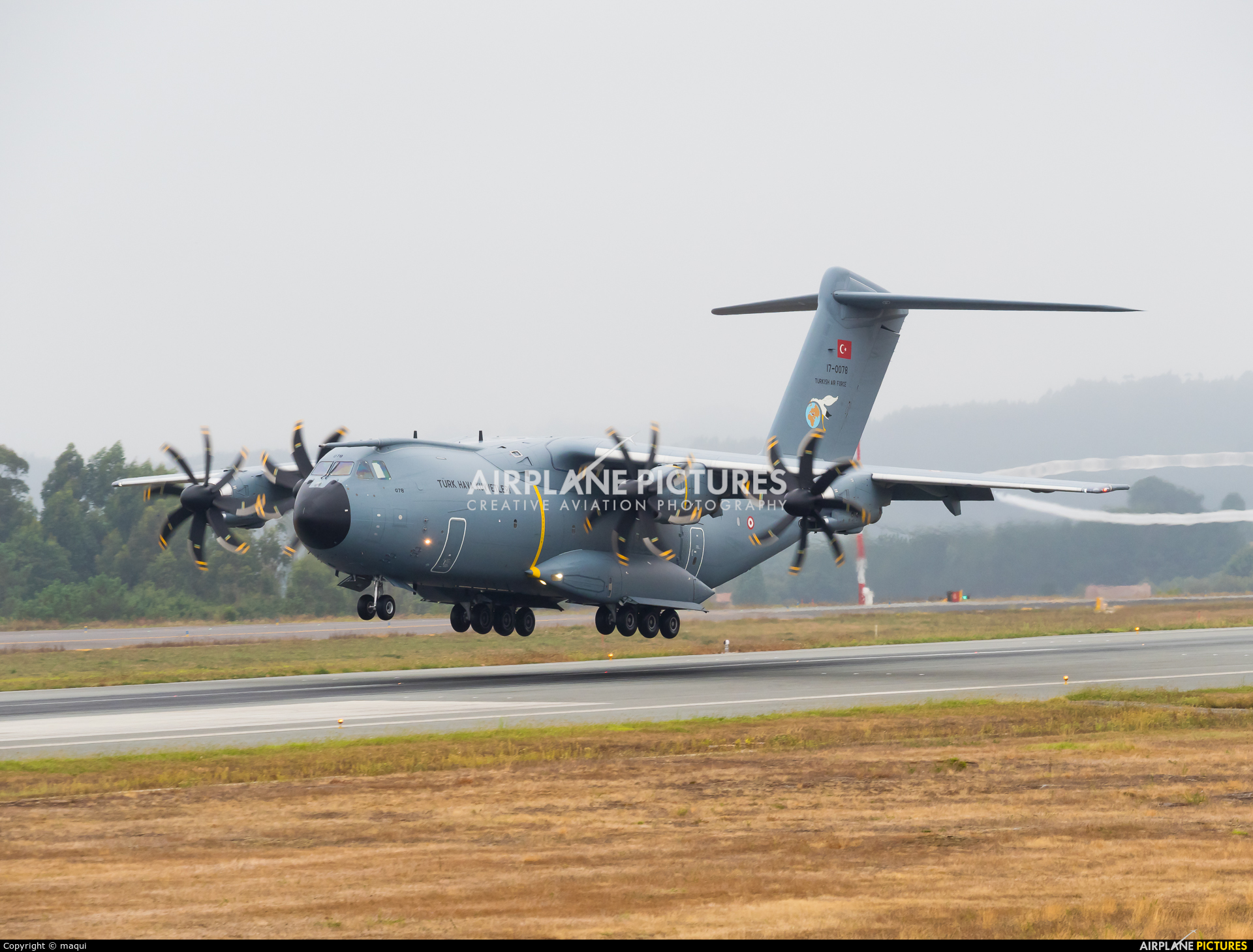Turkey - Air Force 17-0078 aircraft at Santiago de Compostela