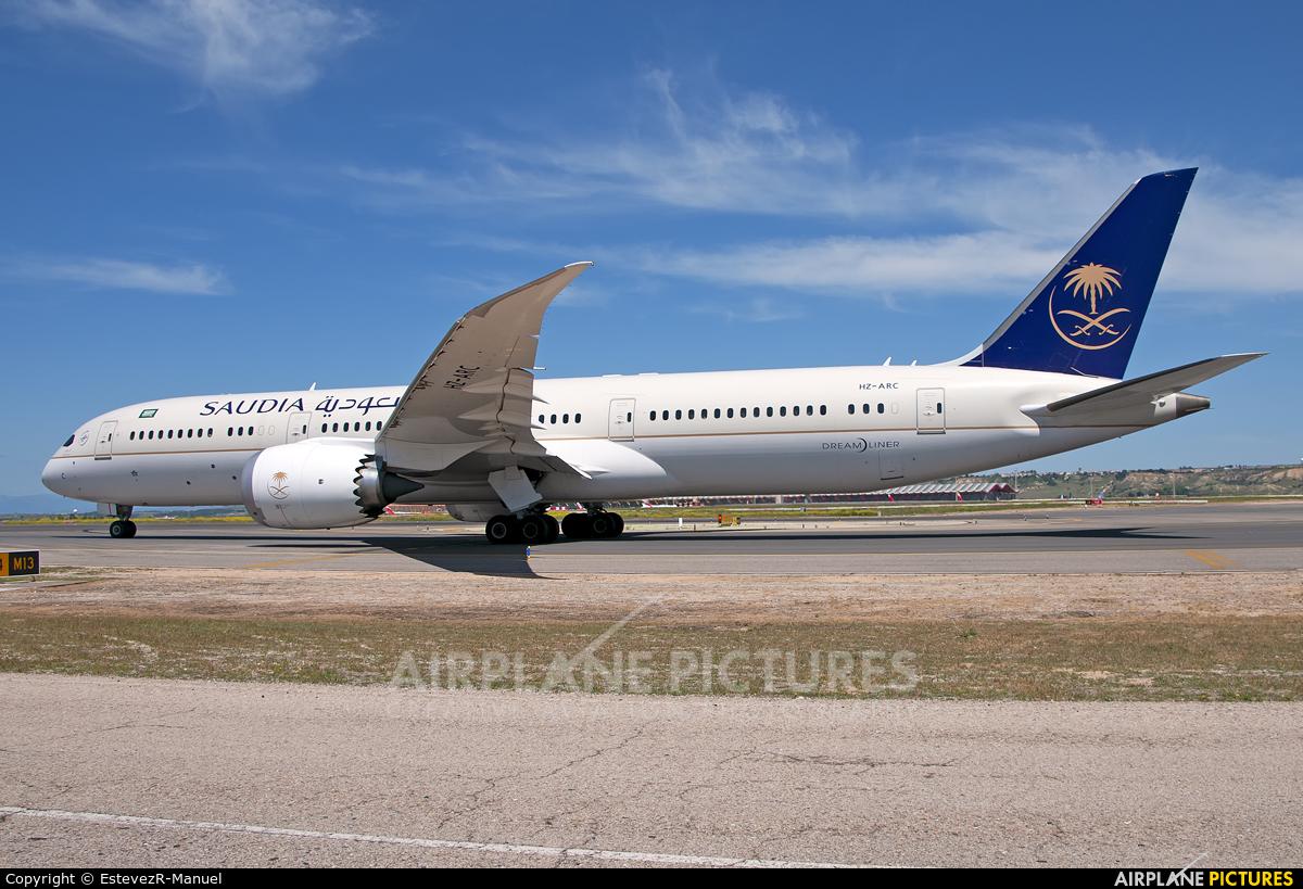 Saudi Arabian Airlines HZ-ARC aircraft at Madrid - Barajas