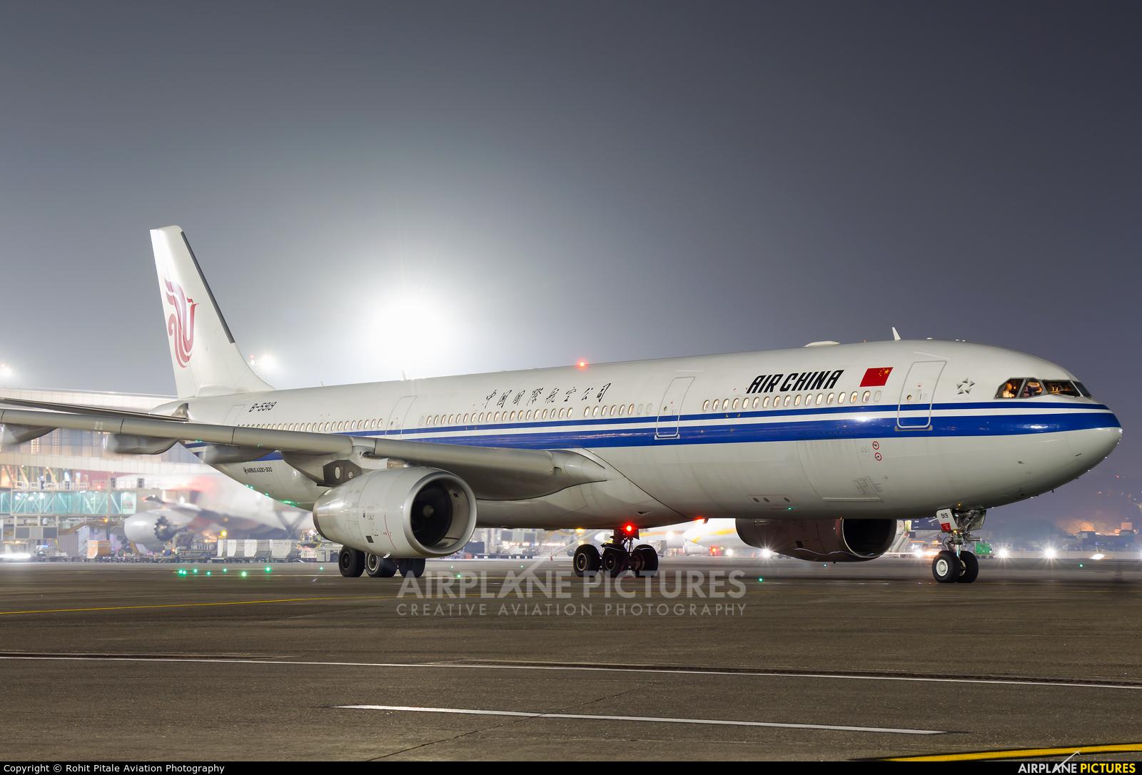 Air China B-5919 aircraft at Mumbai - Chhatrapati Shivaji Intl