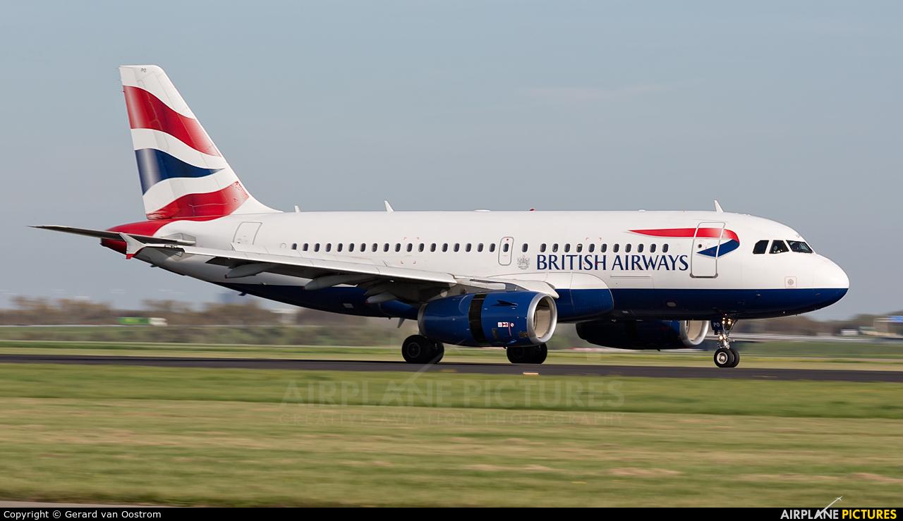 British Airways G-EUPO aircraft at Amsterdam - Schiphol