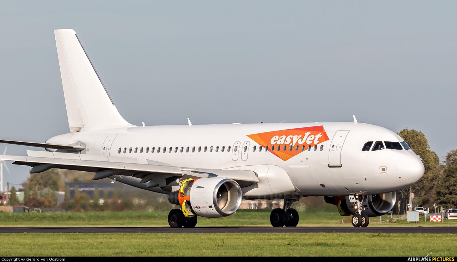 easyJet G-EZEH aircraft at Amsterdam - Schiphol