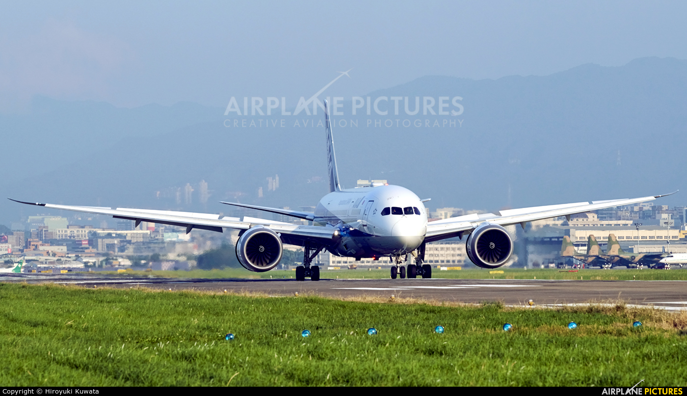 ANA - All Nippon Airways JA815A aircraft at Taipei - Sung Shan