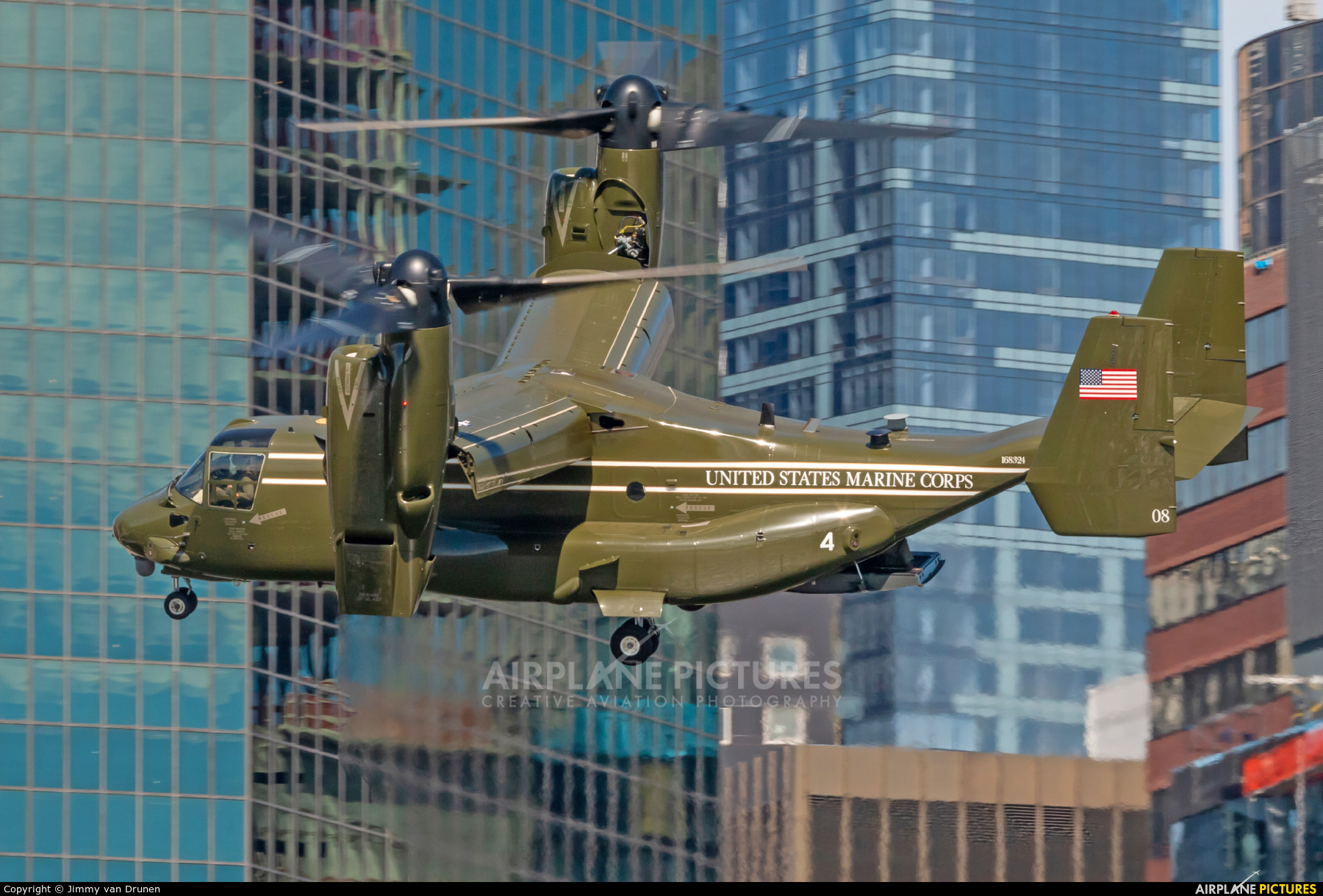 USA - Marine Corps 168324 aircraft at New York - Port Authority Downtown Manhattan / Wall Street Heliport