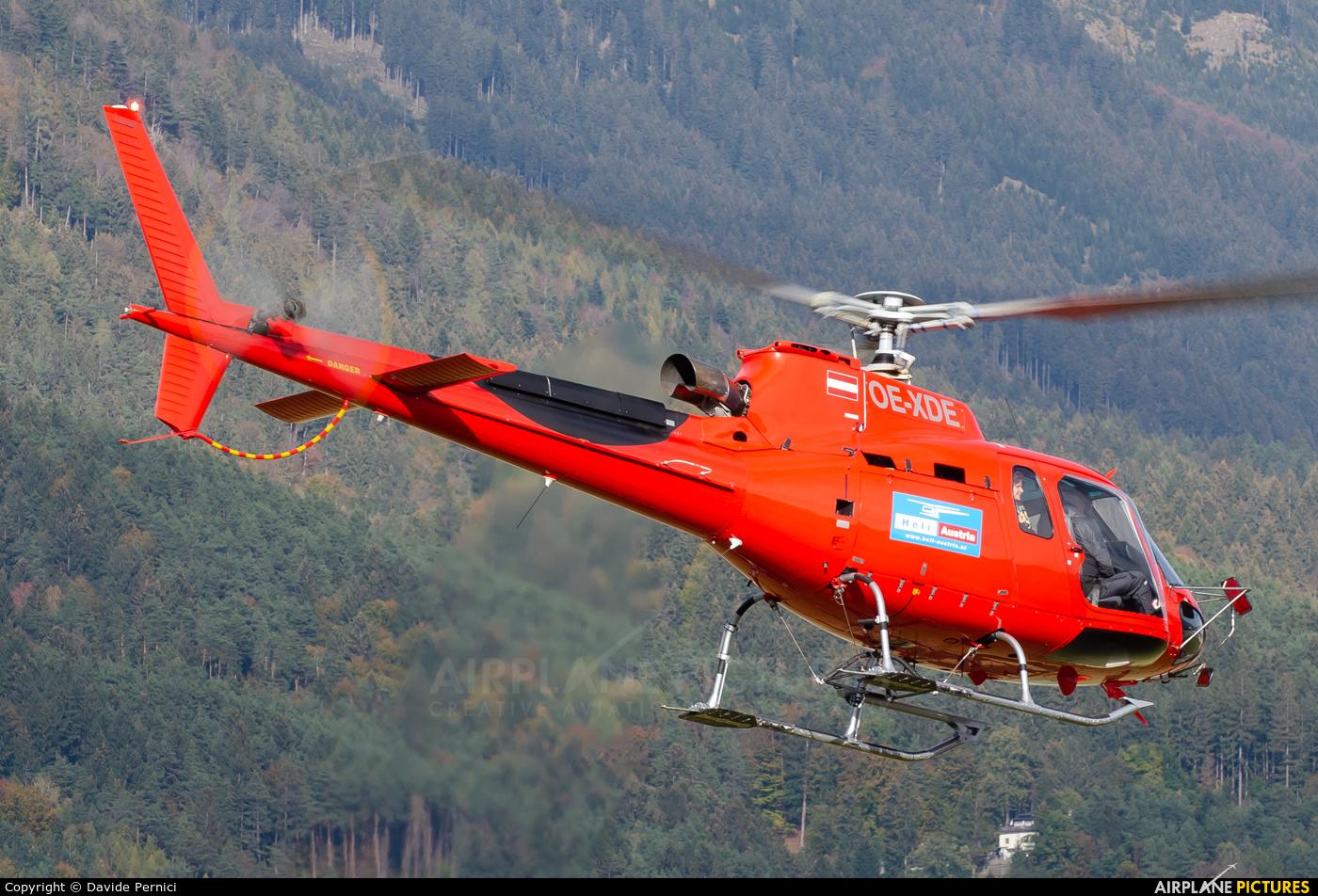 Heli Austria OE-XDE aircraft at Innsbruck