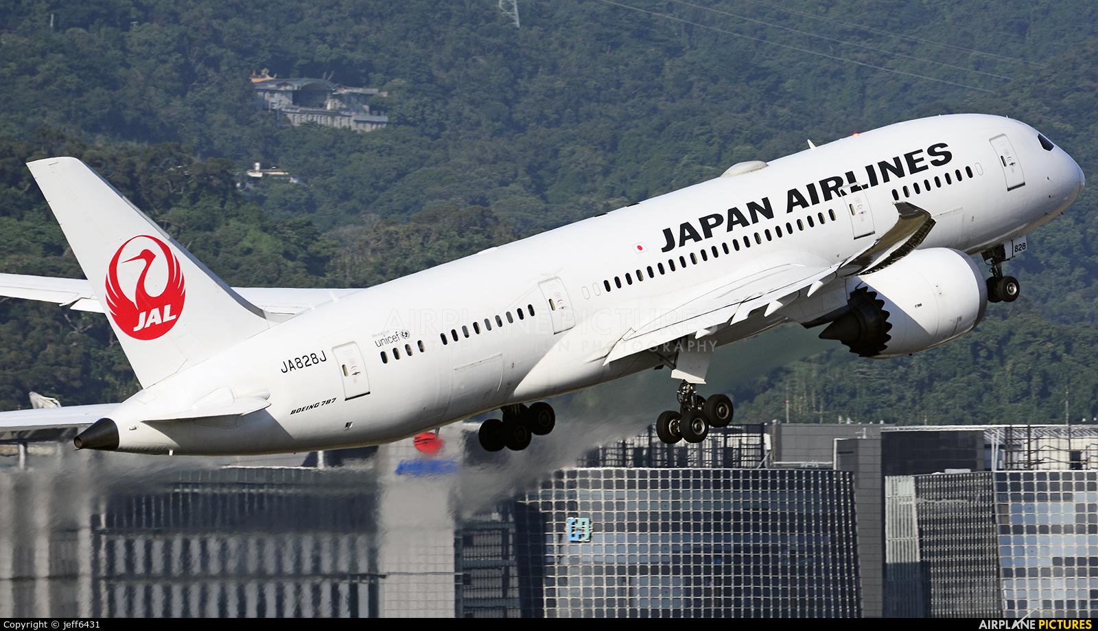 JAL - Japan Airlines JA828J aircraft at Taipei - Sung Shan