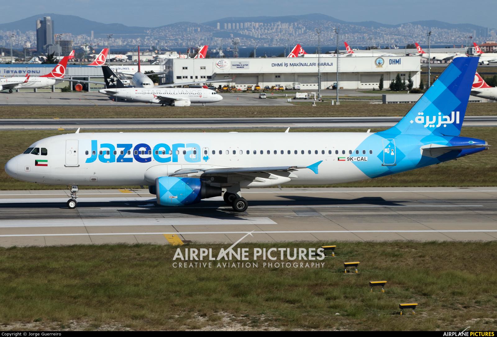 Jazeera Airways 9K-CAL aircraft at Istanbul - Ataturk