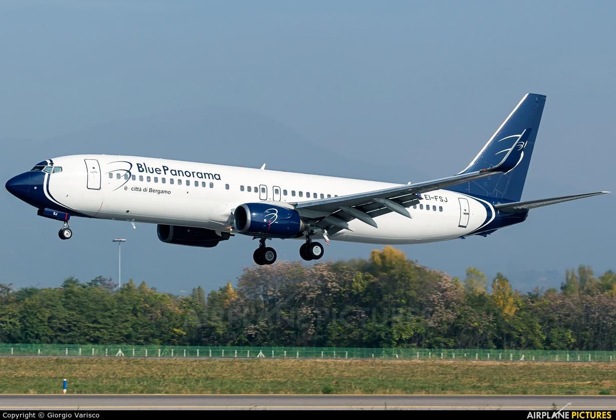 Blue Panorama Airlines EI-FSJ aircraft at Bergamo - Orio al Serio