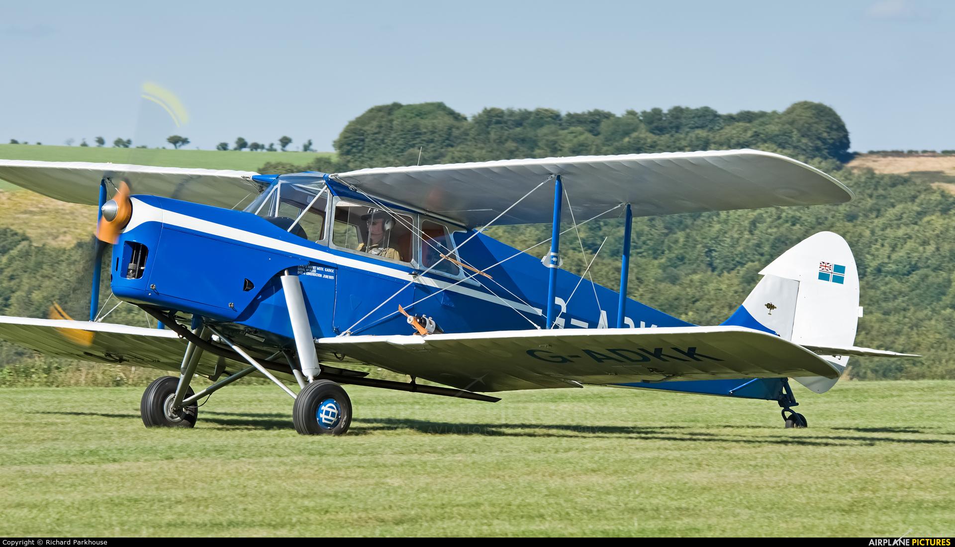 Private G-ADKK aircraft at Compton Abbas