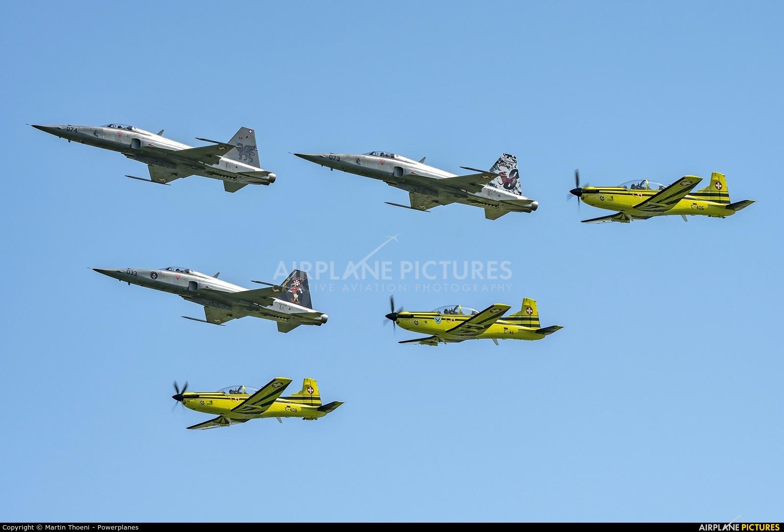 Switzerland - Air Force J-3074 aircraft at Emmen