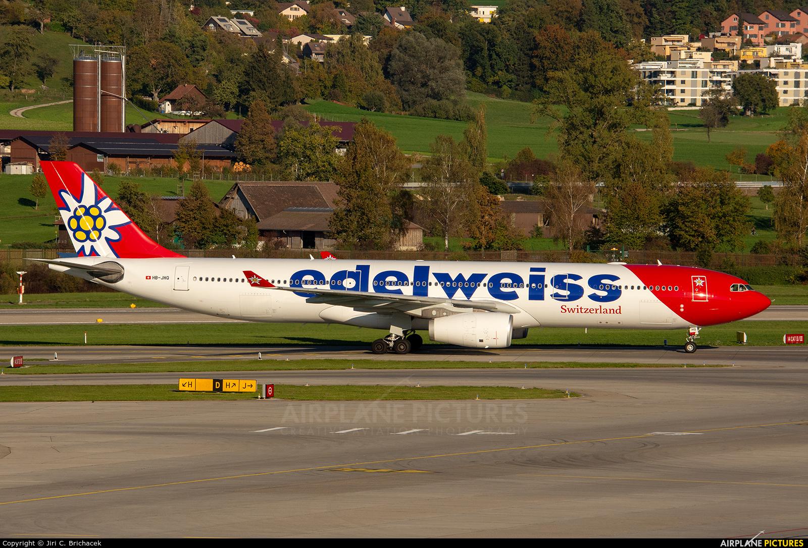 Edelweiss HB-JHQ aircraft at Zurich
