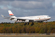 Egyptian Gov Airbus A340 visited Berlin title=