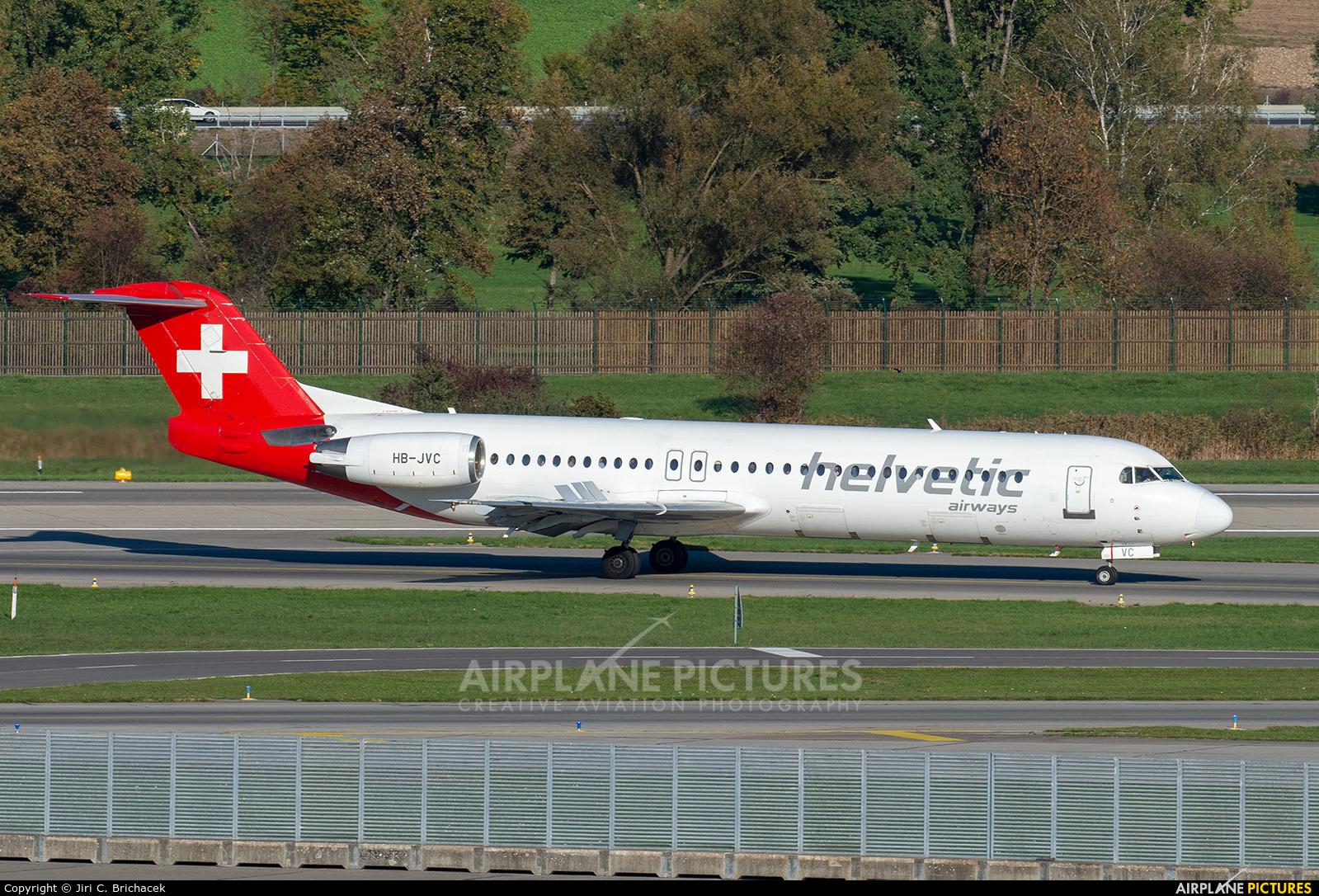 Helvetic Airways HB-JVC aircraft at Zurich