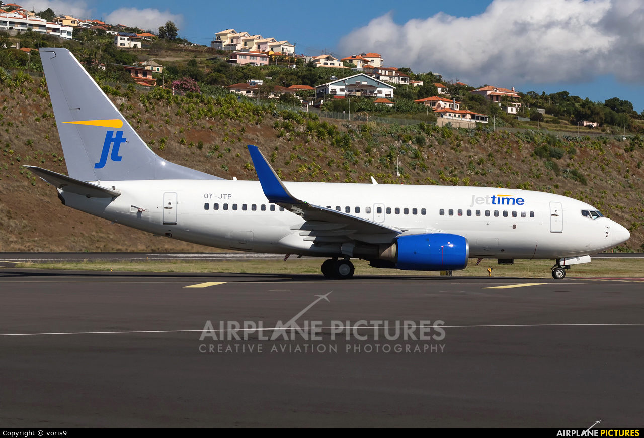 Jet Time OY-JTP aircraft at Madeira