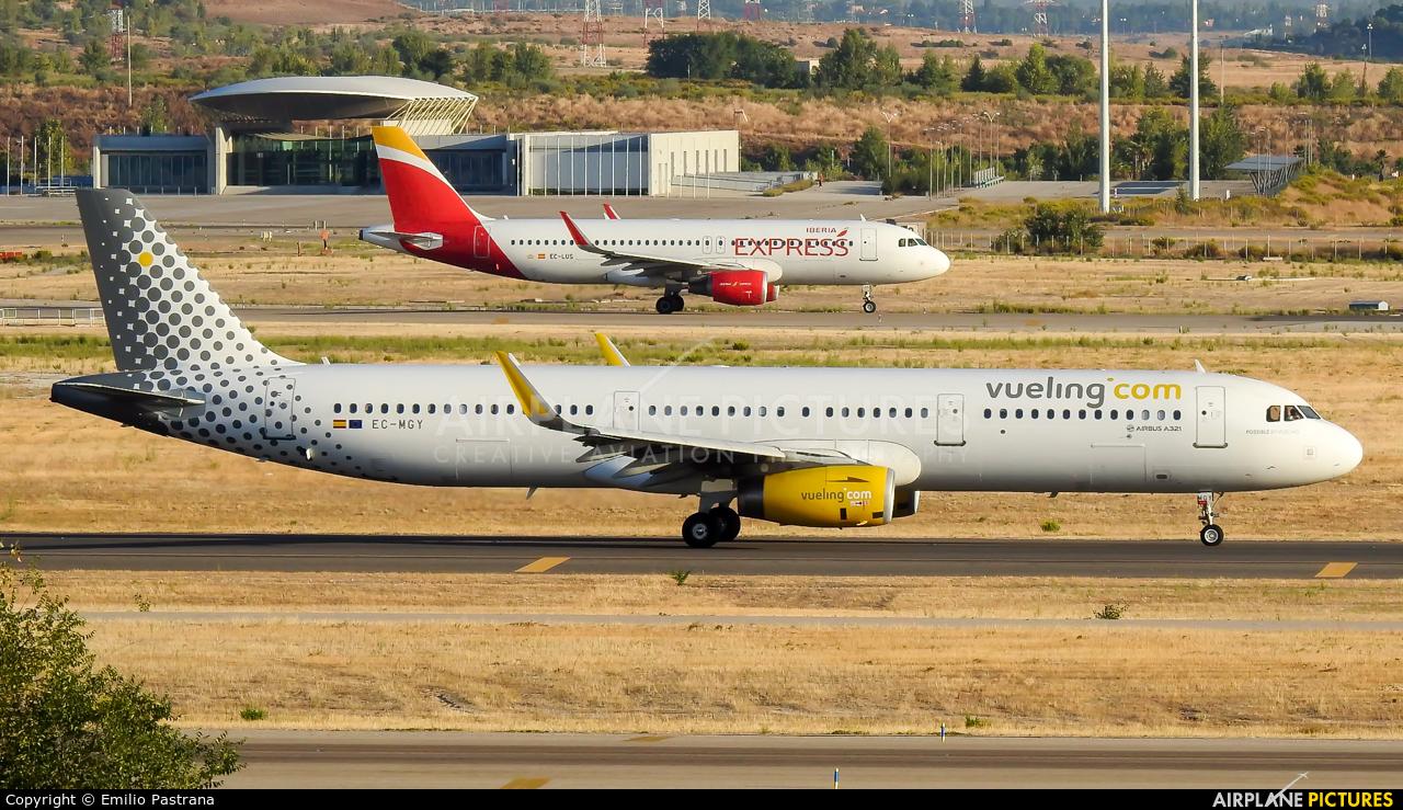 Vueling Airlines EC-MGY aircraft at Madrid - Barajas