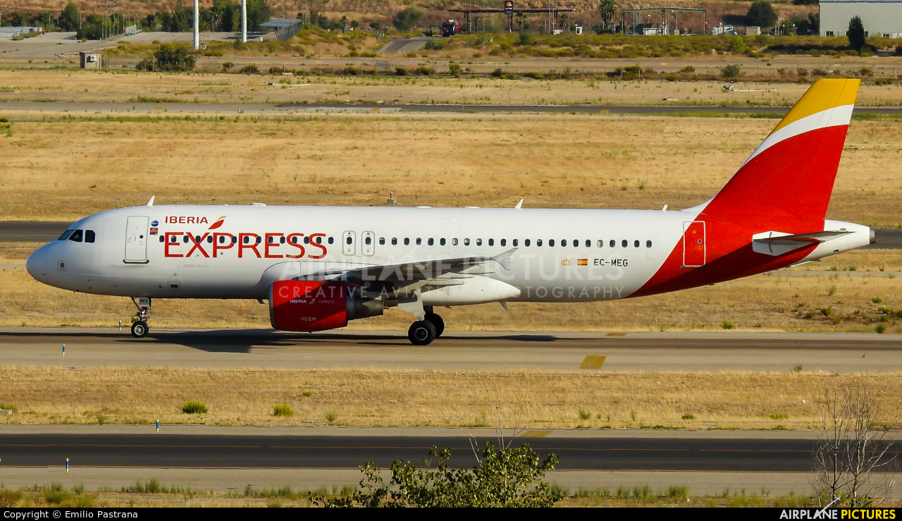 Iberia Express EC-MEG aircraft at Madrid - Barajas