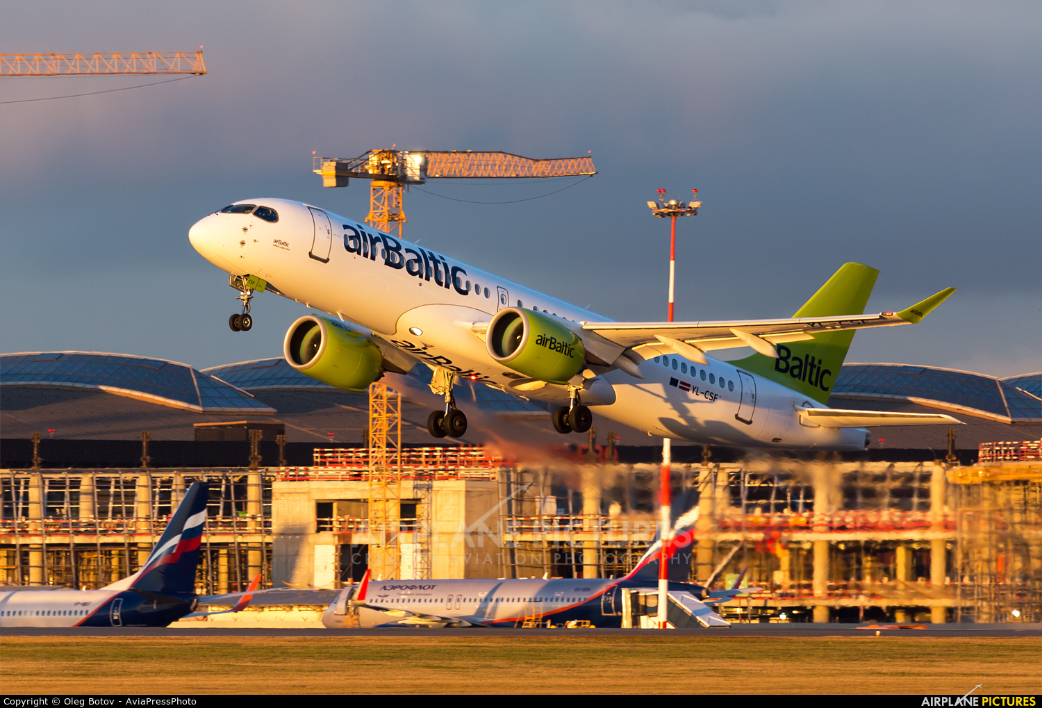 Air Baltic YL-CSF aircraft at Moscow - Sheremetyevo