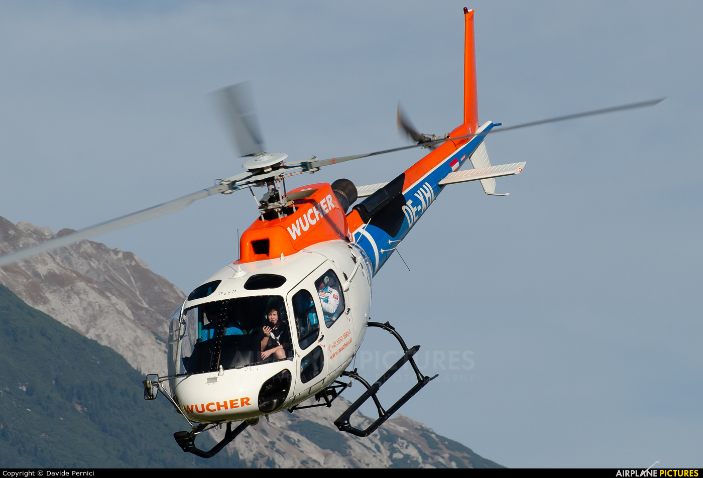 Wucher Helicopter OE-XHL aircraft at Innsbruck