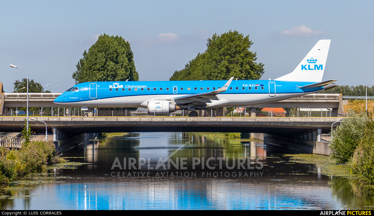 KLM Cityhopper PH-EZI aircraft at Amsterdam - Schiphol