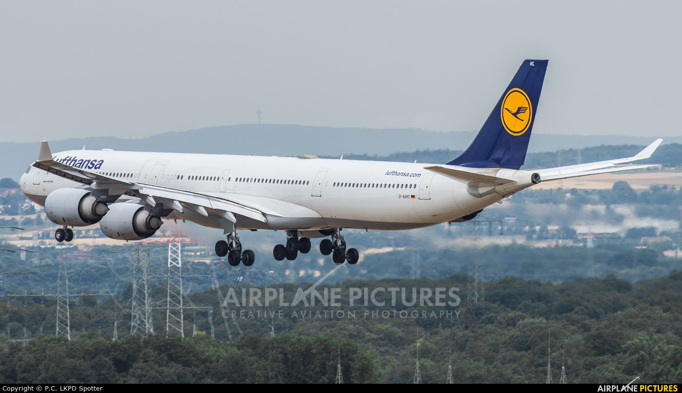 Lufthansa D-AIHC aircraft at Frankfurt