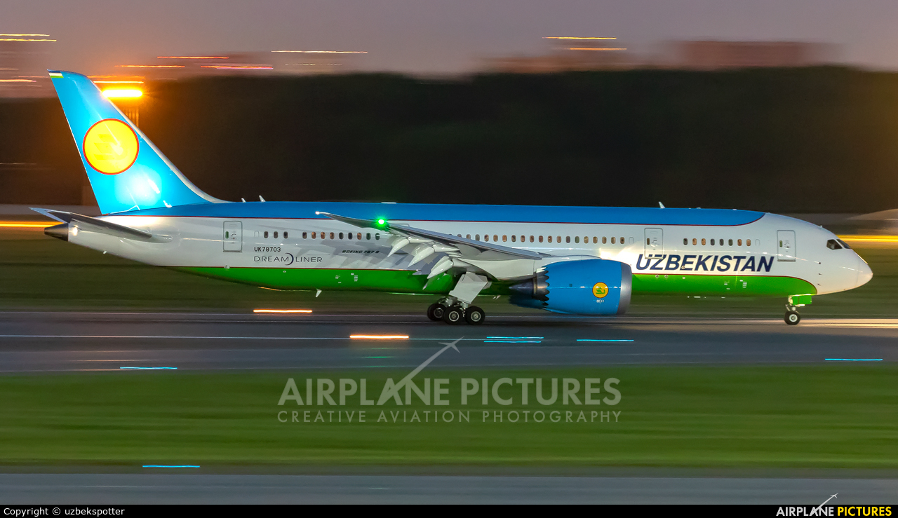 Uzbekistan Airways UK78703 aircraft at St. Petersburg - Pulkovo