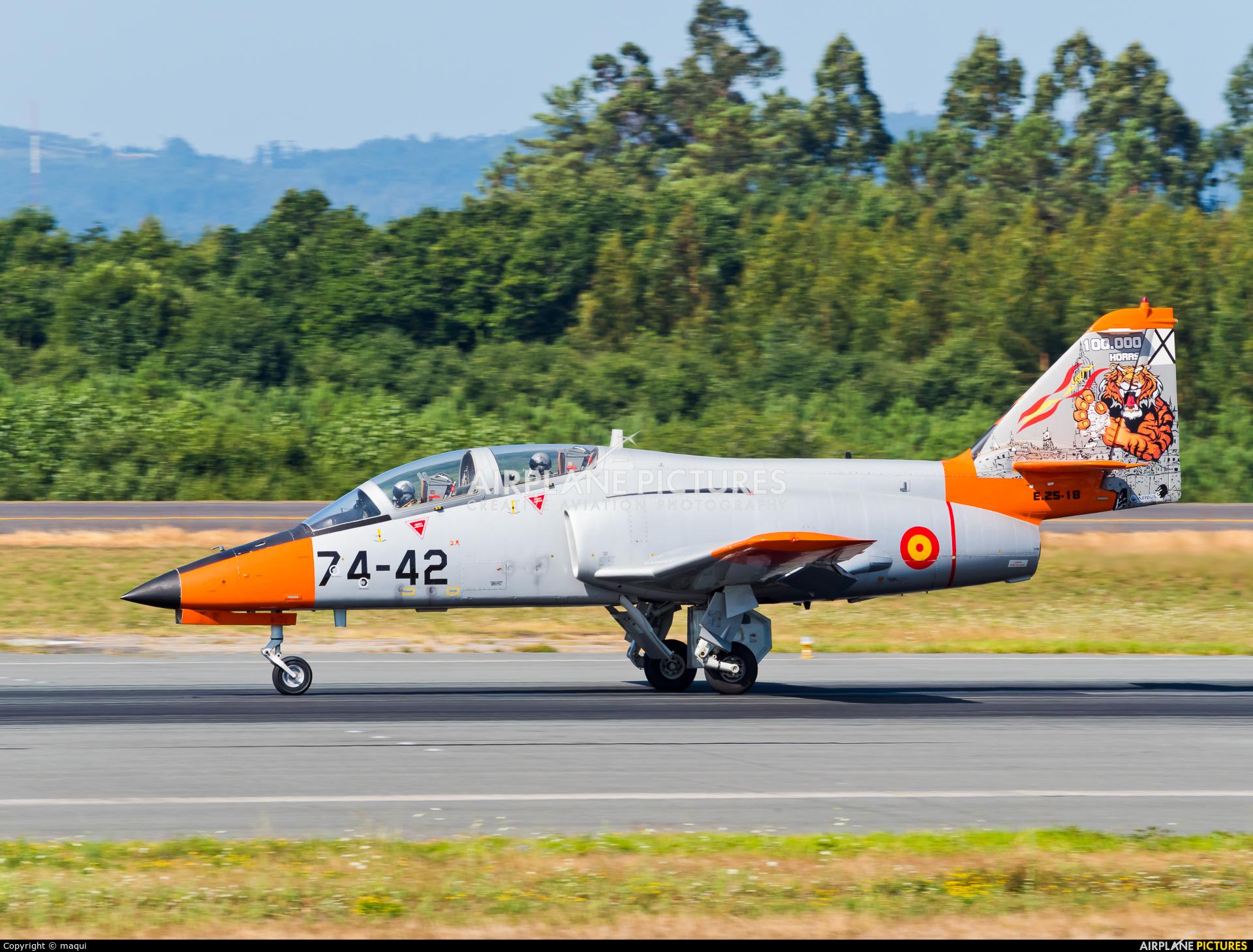 Spain - Air Force E.25-18 aircraft at Santiago de Compostela