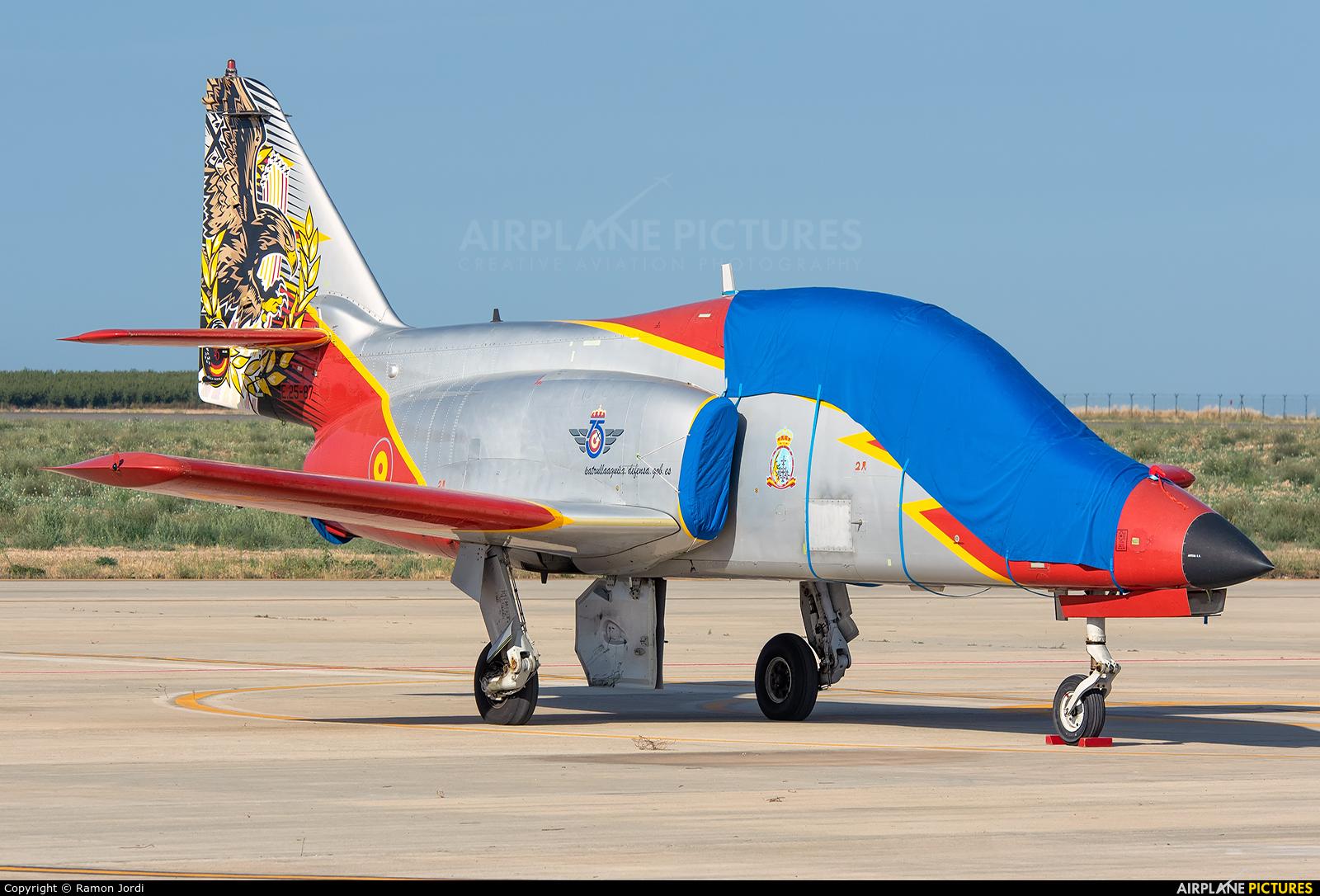 Spain - Air Force E.28-87 aircraft at Lleida - Alguaire