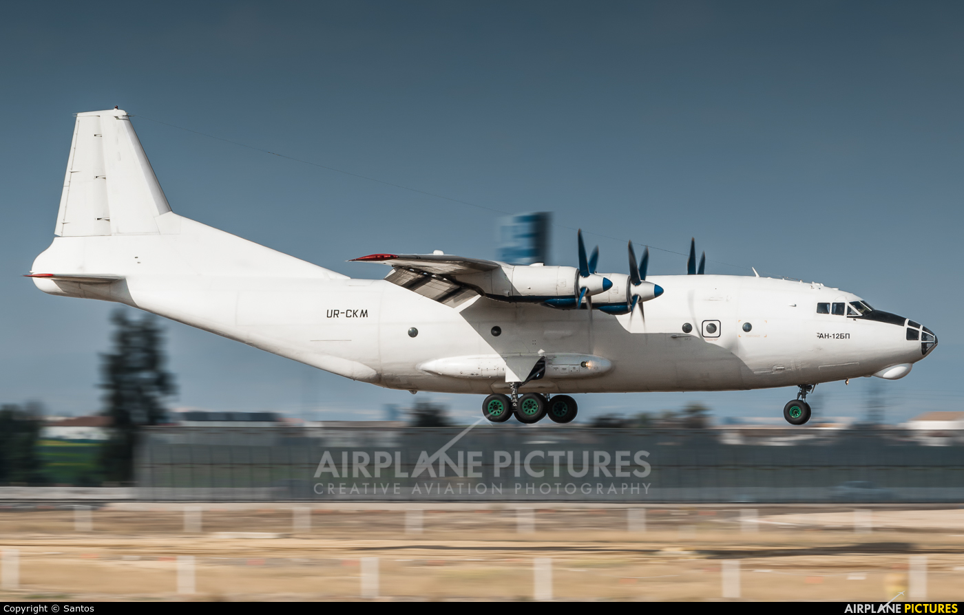 Cavok Air UR-CKM aircraft at Seville - San Pablo