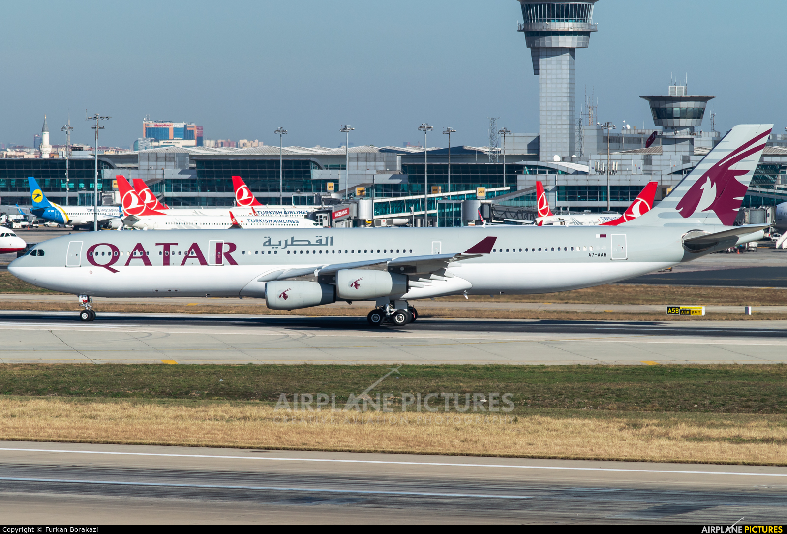 Qatar Amiri Flight A7-AAH aircraft at Istanbul - Ataturk