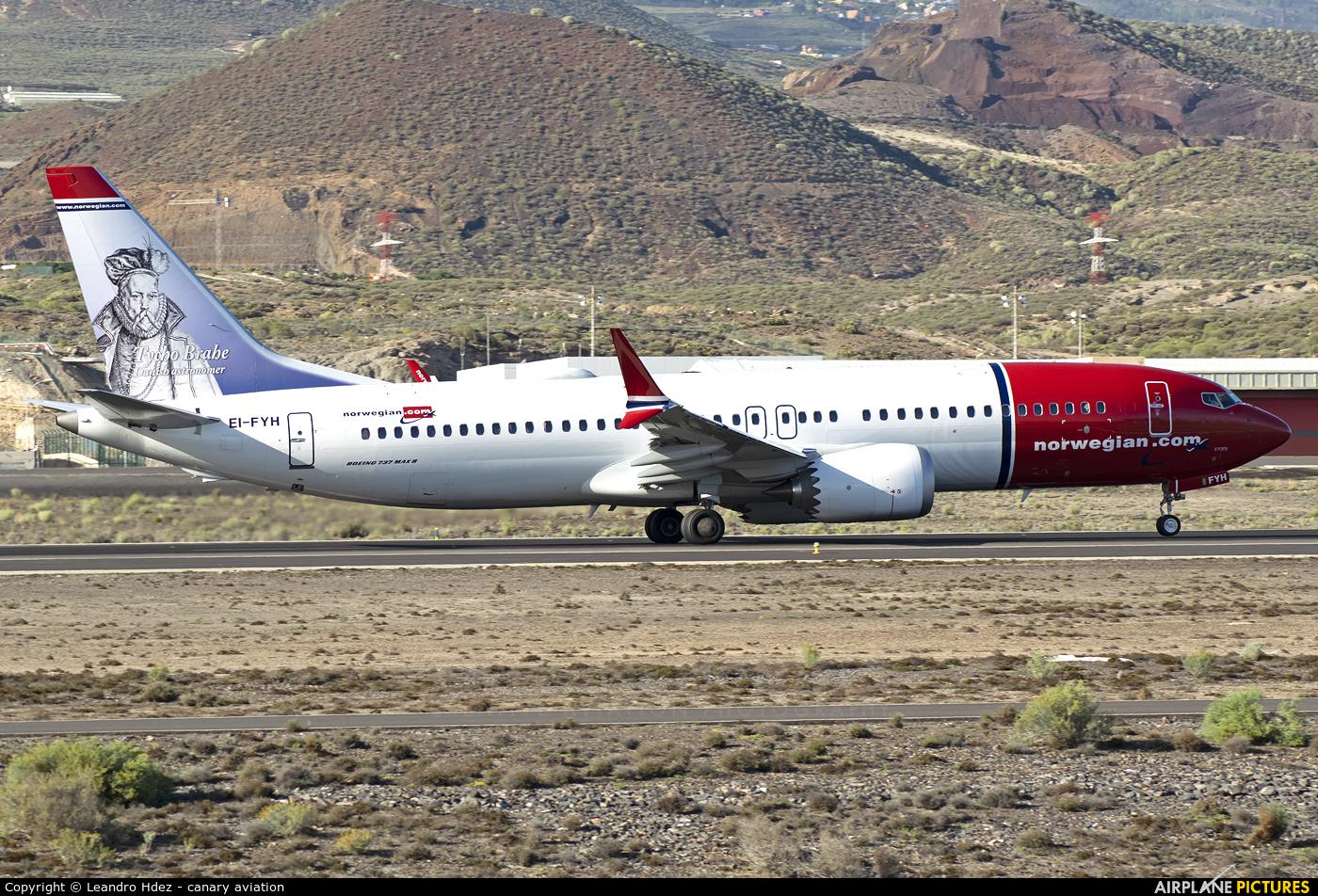Norwegian Air Shuttle EI-FYH aircraft at Tenerife Sur - Reina Sofia