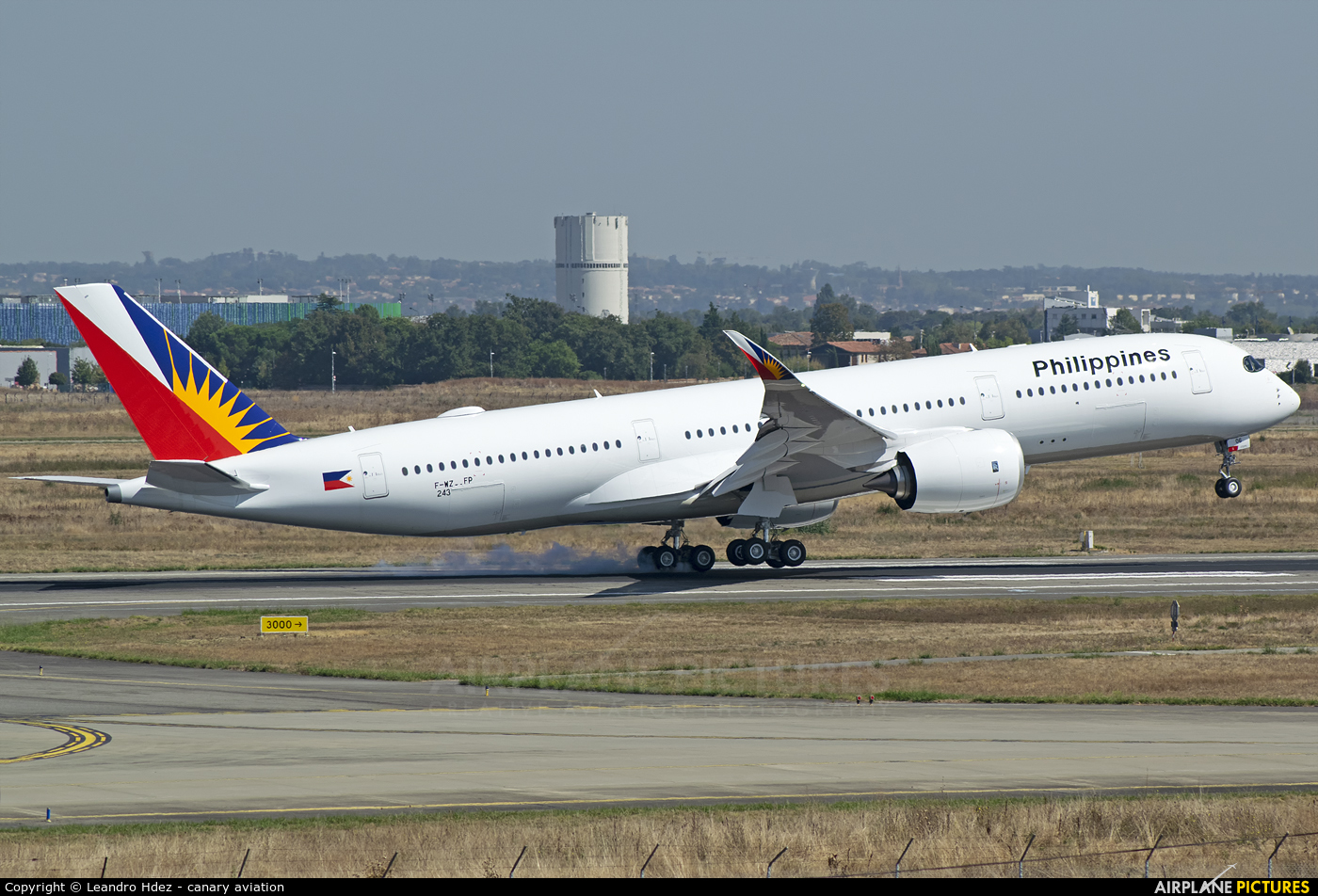 Philippines Airlines F-WZFP aircraft at Toulouse - Blagnac