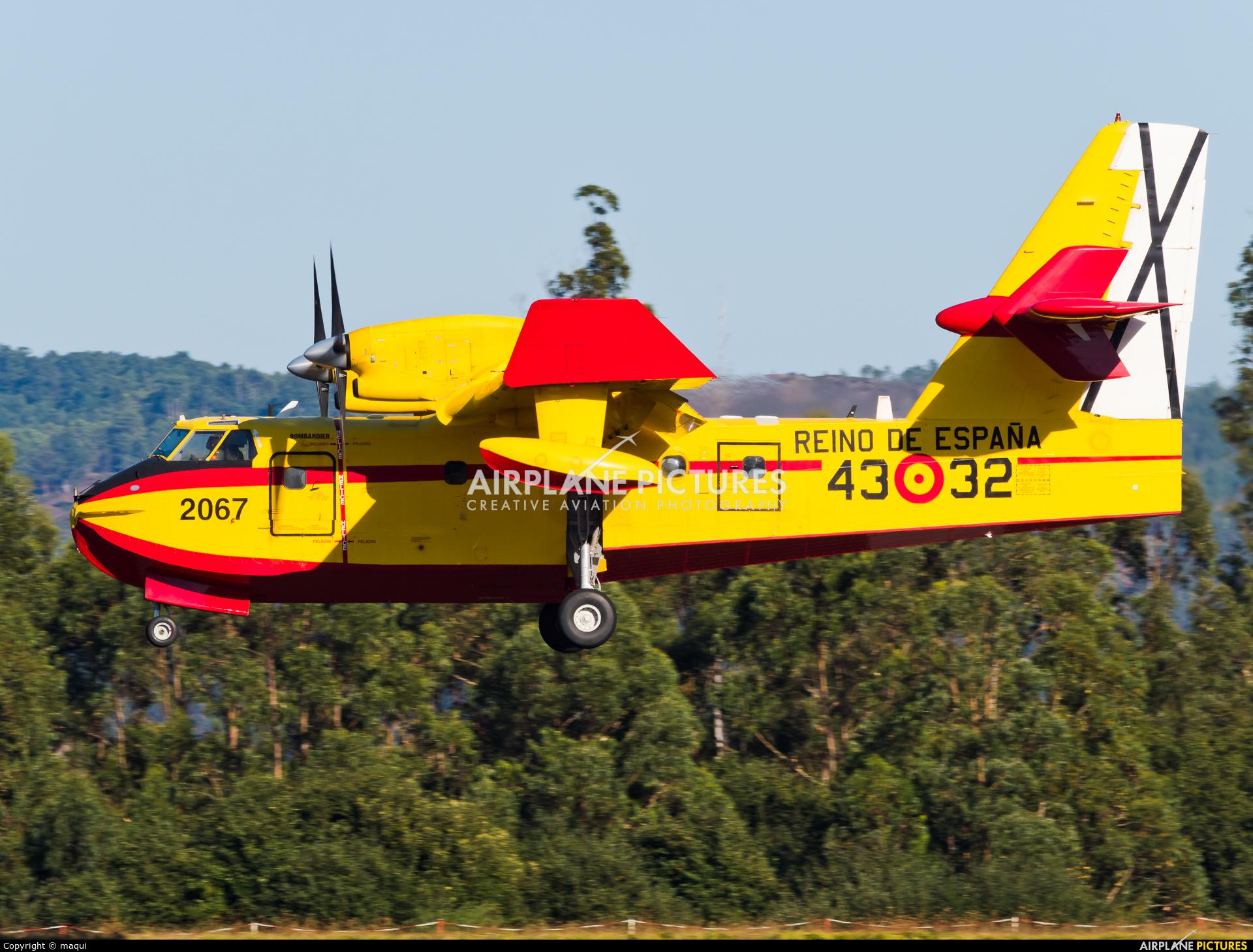 Spain - Air Force UD.14-02 aircraft at Santiago de Compostela