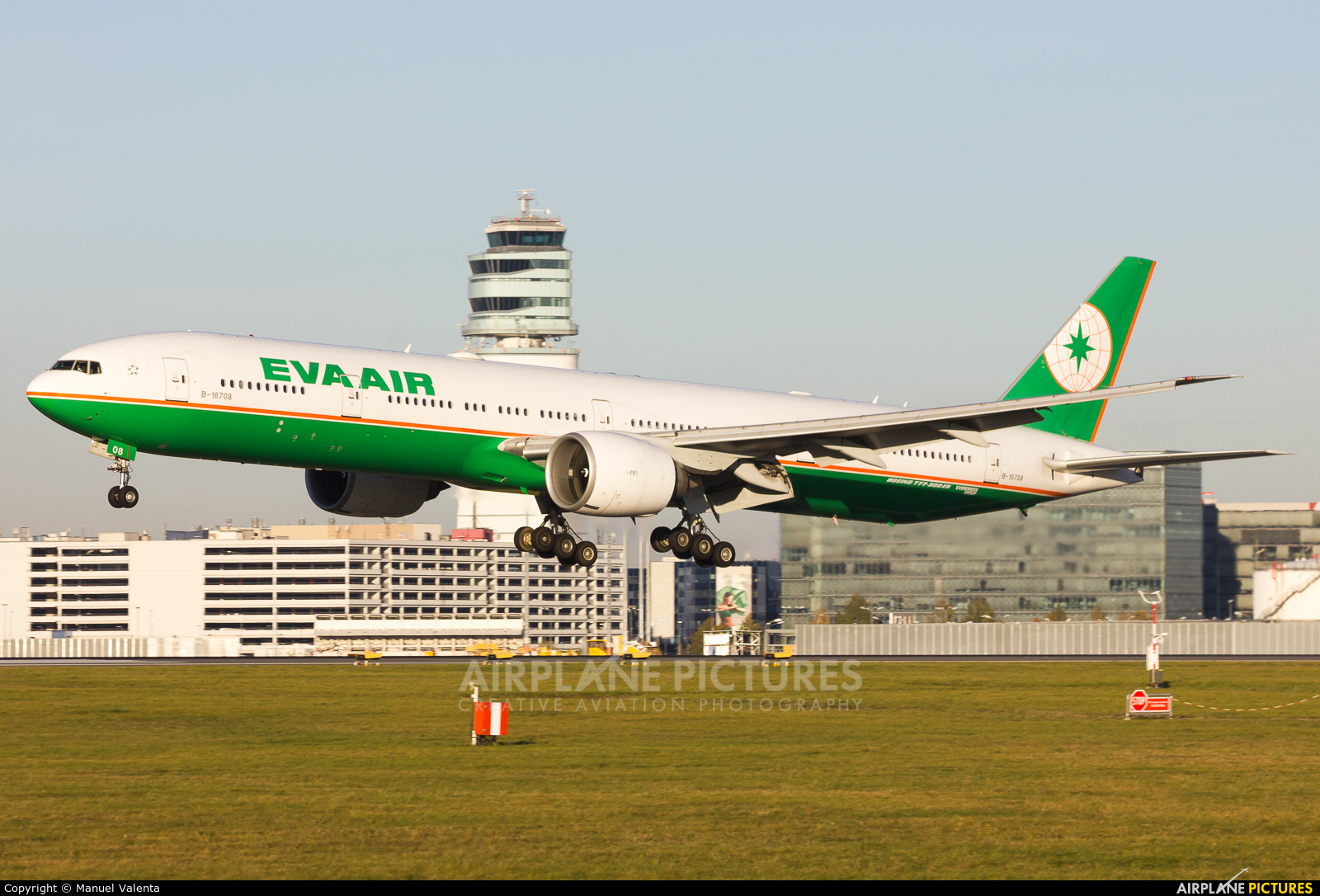 Eva Air B-16708 aircraft at Vienna - Schwechat