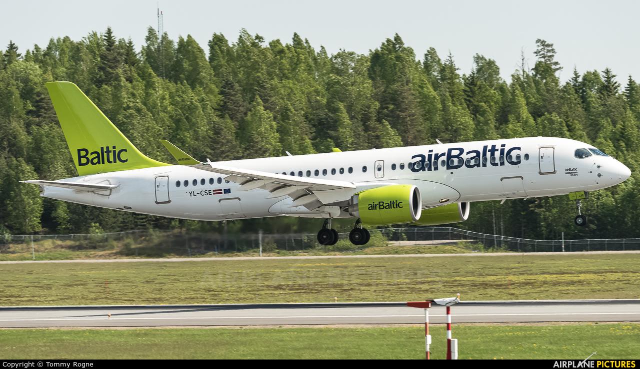 Air Baltic YL-CSE aircraft at Oslo - Gardermoen