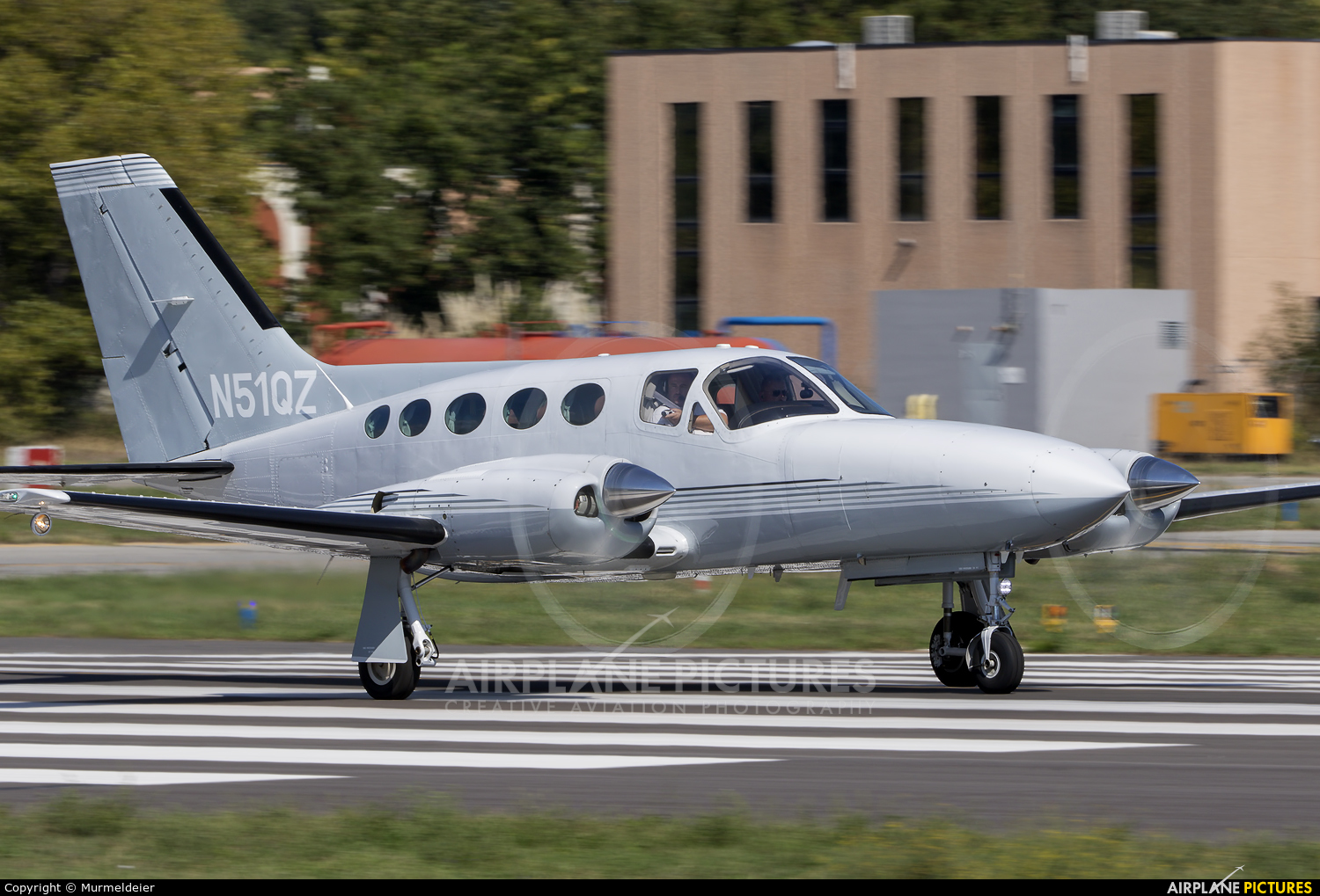 Private N51QZ aircraft at Cannes - Mandelieu