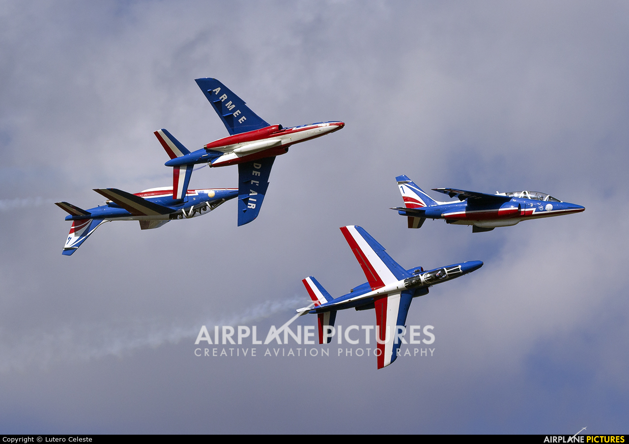 "France - Air Force ""Patrouille de France"" F-UHRE aircraft at Toulouse - Francazal"