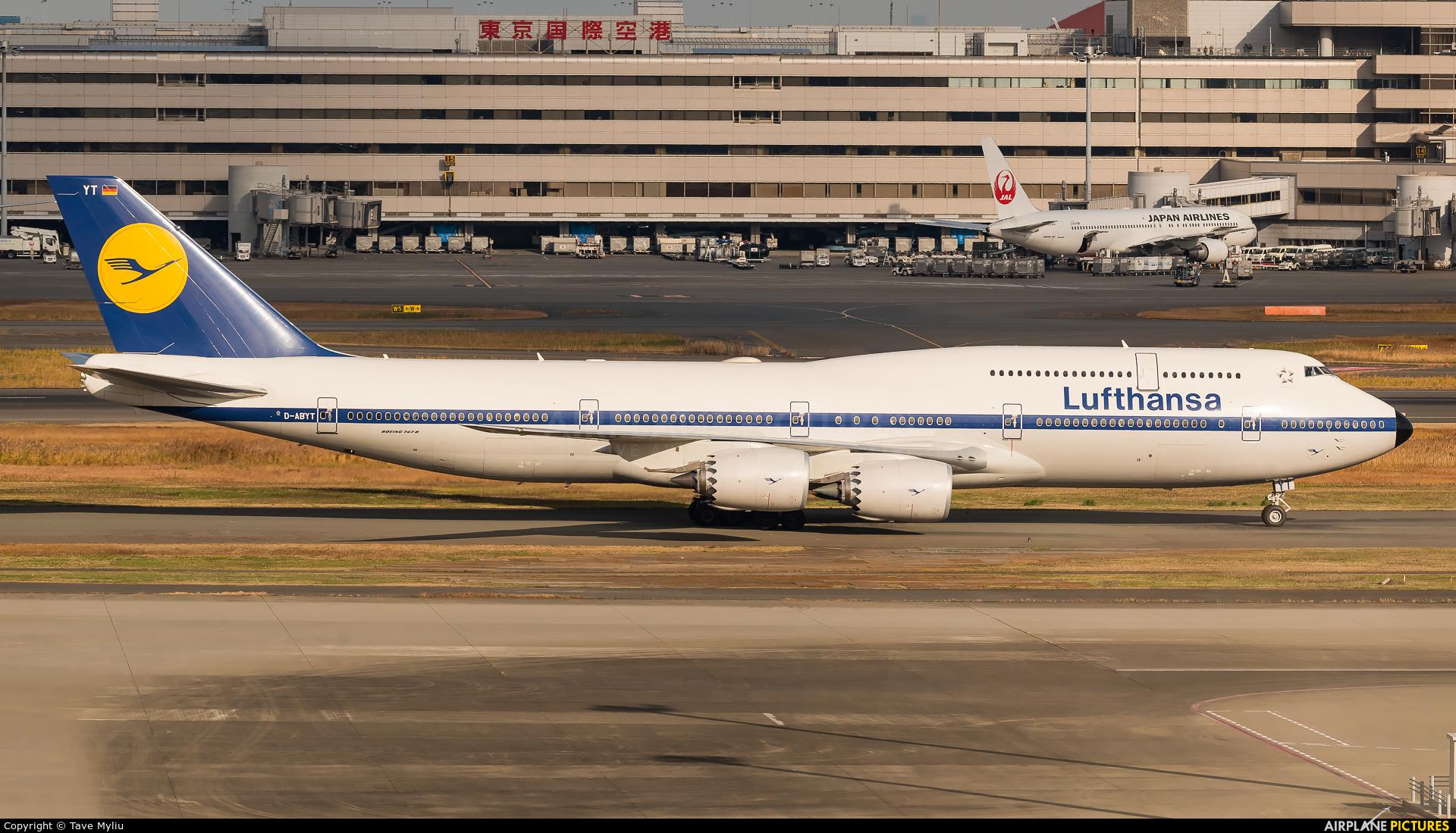 Lufthansa D-ABYT aircraft at Tokyo - Haneda Intl