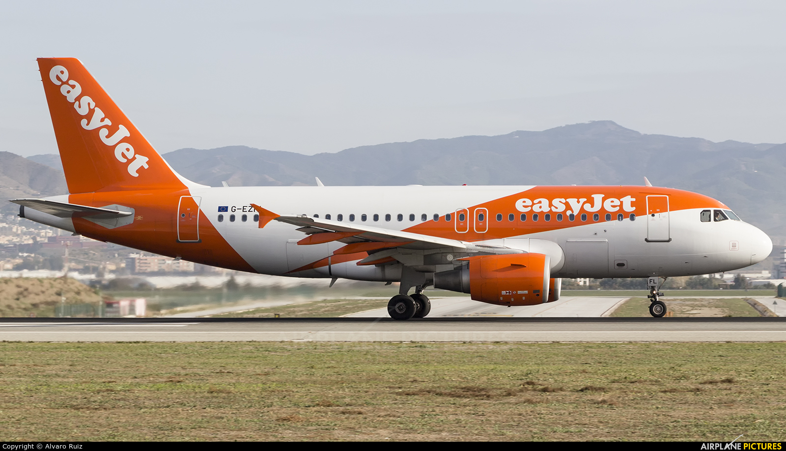 easyJet G-EZFL aircraft at Málaga