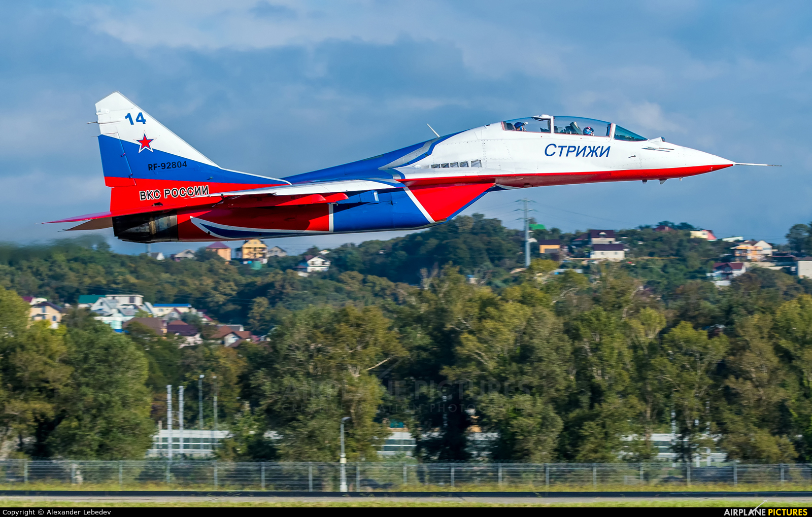 "Russia - Air Force ""Strizhi"" RF-92804 aircraft at Sochi Intl"