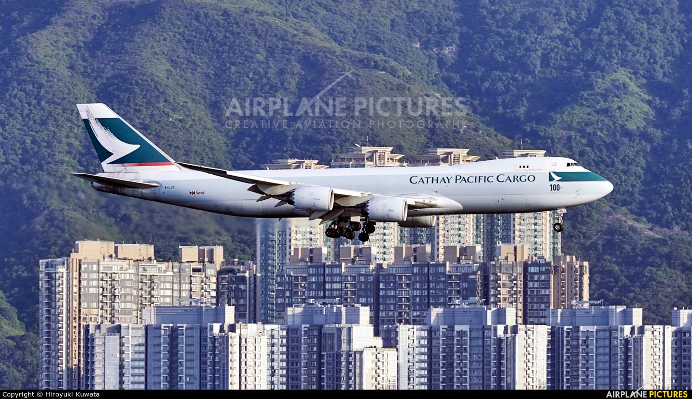 Cathay Pacific Cargo B-LJC aircraft at HKG - Chek Lap Kok Intl