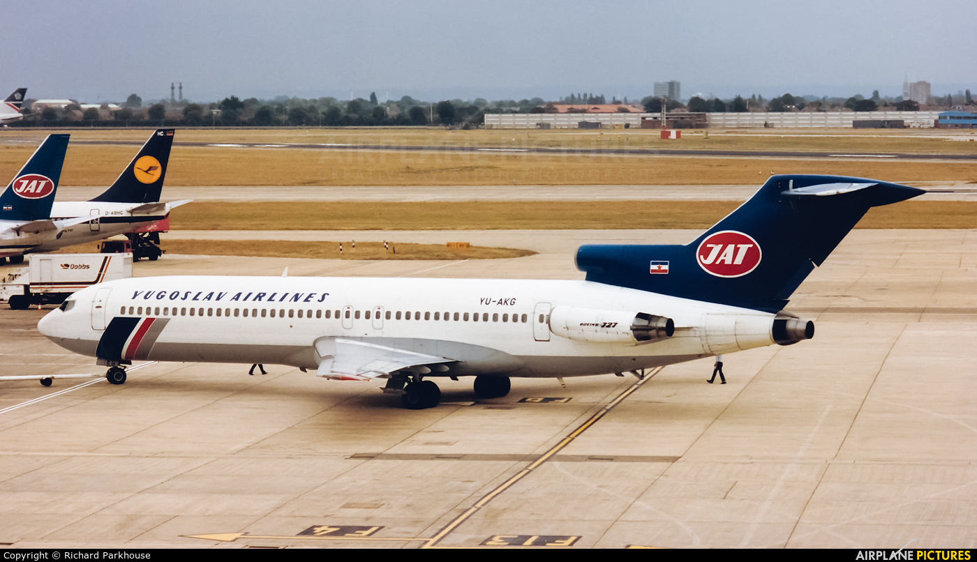 JAT - Yugoslav Airlines YU-AKG aircraft at London - Heathrow