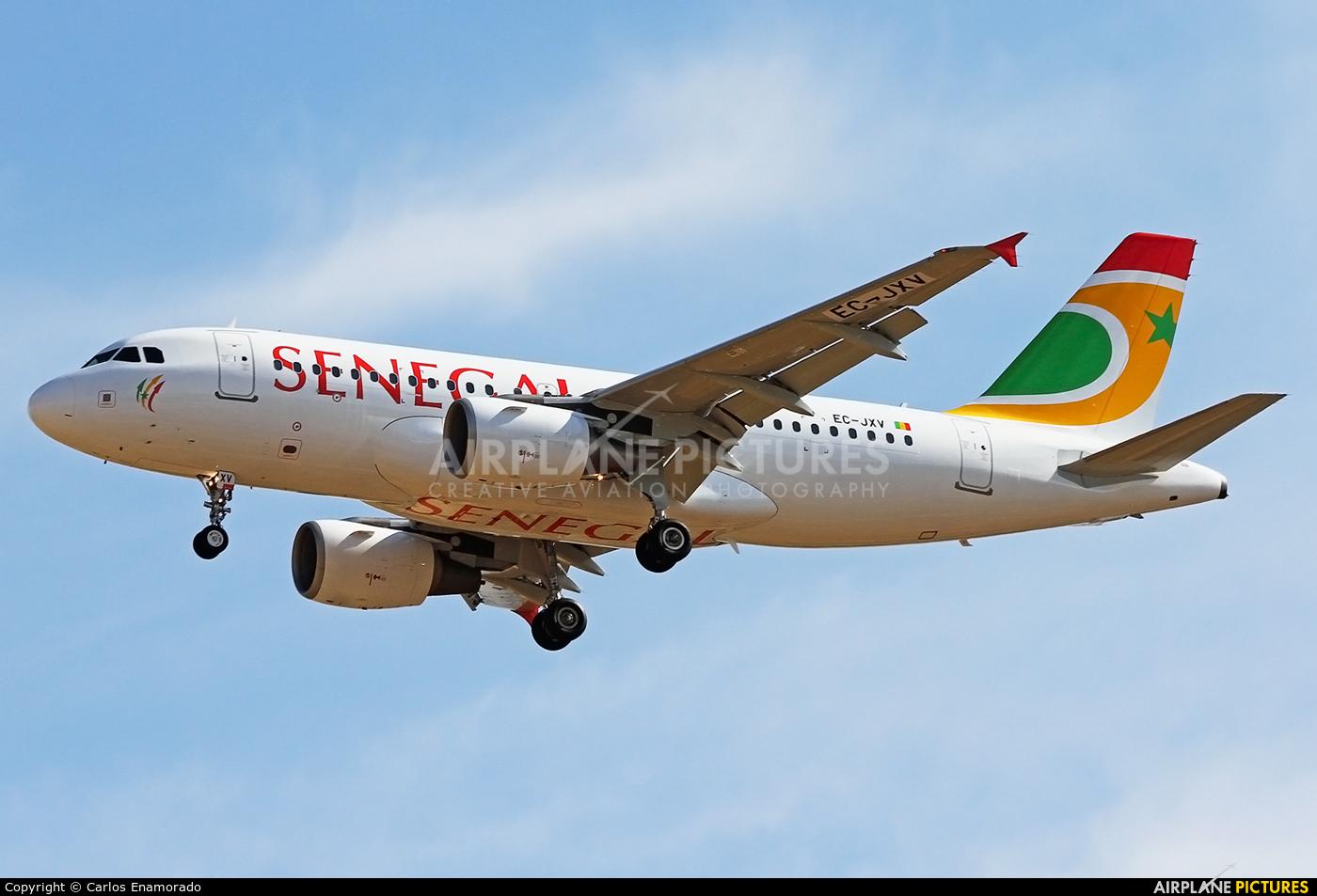 Air Senegal International EC-JXV aircraft at Madrid - Barajas