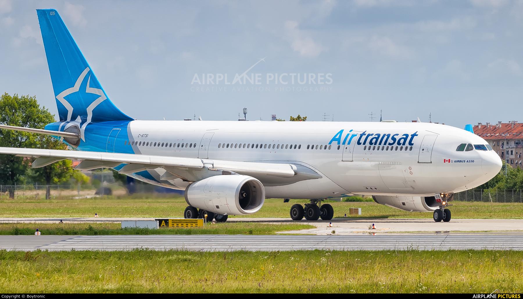 Air Transat C-GTSI aircraft at Zagreb