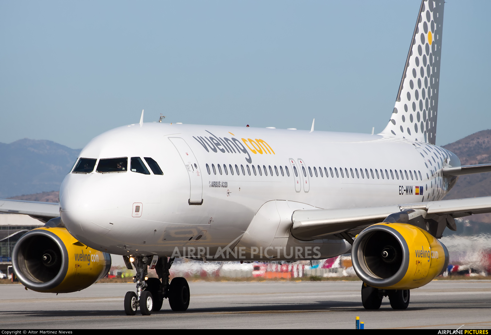 Vueling Airlines EC-MVM aircraft at Málaga