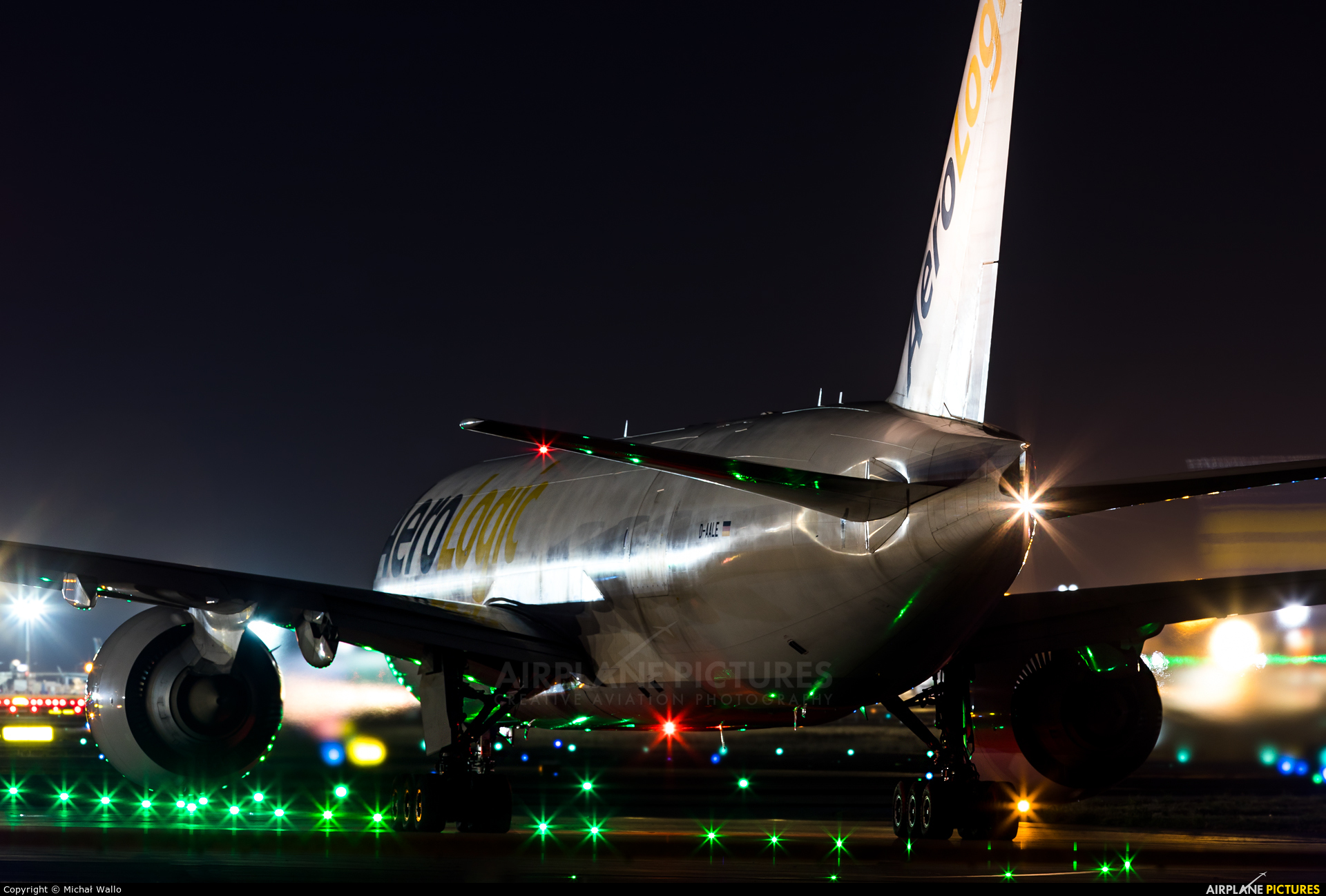 AeroLogic D-AALE aircraft at Frankfurt