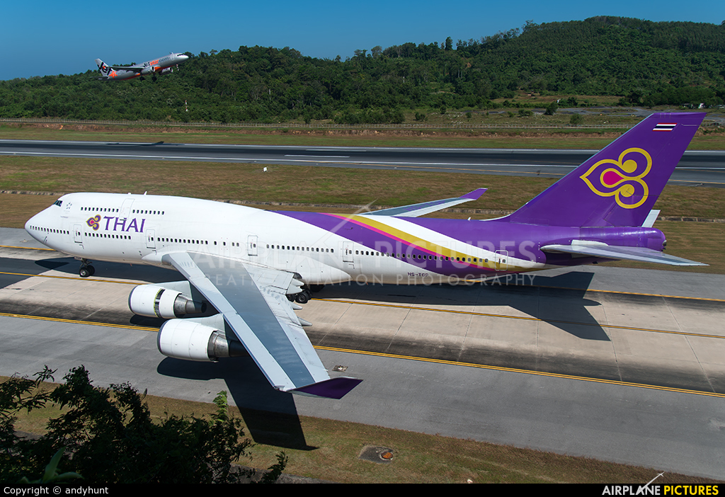 Thai Airways HS-TGP aircraft at Phuket