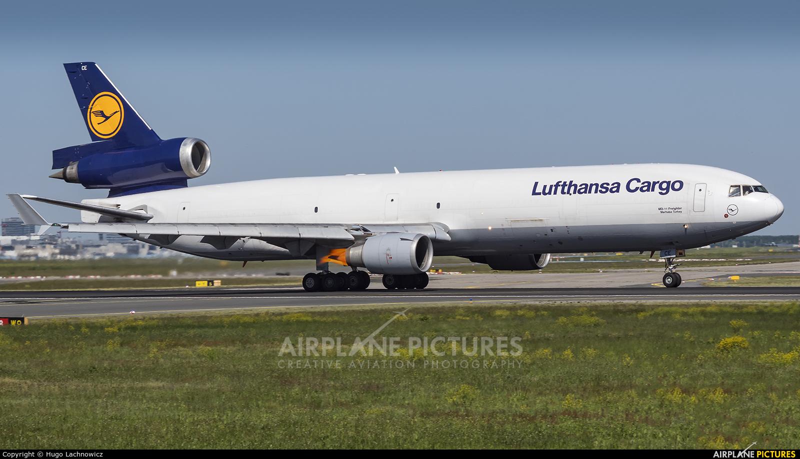 Lufthansa Cargo D-ALCE aircraft at Frankfurt