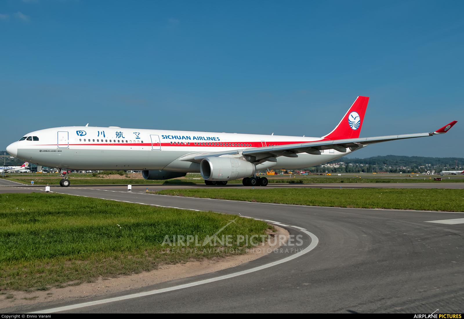 Sichuan Airlines  B-8589 aircraft at Zurich